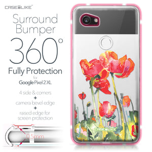 Google Pixel 2 XL case Watercolor Floral 2230 Bumper Case Protection | CASEiLIKE.com