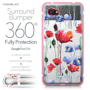 Google Pixel 2 XL case Watercolor Floral 2234 Bumper Case Protection | CASEiLIKE.com
