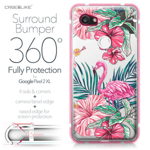 Google Pixel 2 XL case Tropical Flamingo 2239 Bumper Case Protection | CASEiLIKE.com