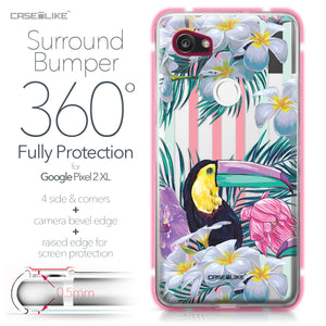 Google Pixel 2 XL case Tropical Floral 2240 Bumper Case Protection | CASEiLIKE.com