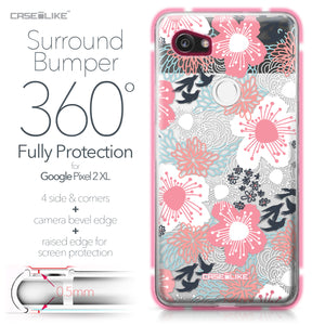 Google Pixel 2 XL case Japanese Floral 2255 Bumper Case Protection | CASEiLIKE.com