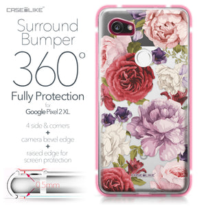 Google Pixel 2 XL case Mixed Roses 2259 Bumper Case Protection | CASEiLIKE.com