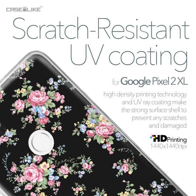 Google Pixel 2 XL case Floral Rose Classic 2261 with UV-Coating Scratch-Resistant Case | CASEiLIKE.com