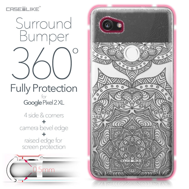 Google Pixel 2 XL case Mandala Art 2304 Bumper Case Protection | CASEiLIKE.com