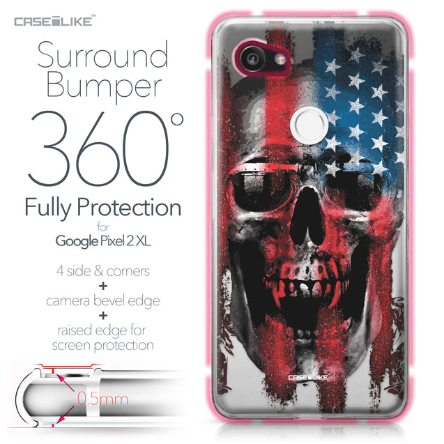 Google Pixel 2 XL case Art of Skull 2532 Bumper Case Protection | CASEiLIKE.com