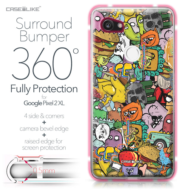 Google Pixel 2 XL case Graffiti 2731 Bumper Case Protection | CASEiLIKE.com