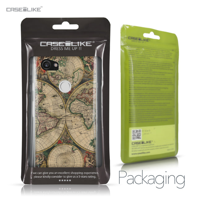 Google Pixel 2 XL case World Map Vintage 4607 Retail Packaging | CASEiLIKE.com