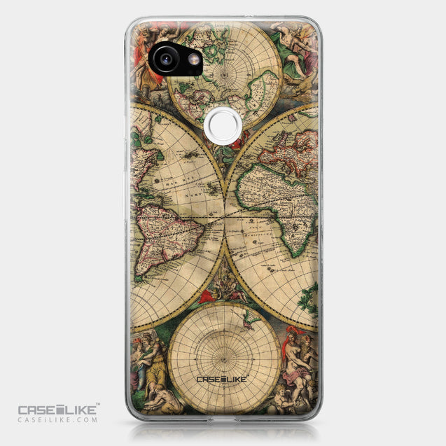 Google Pixel 2 XL case World Map Vintage 4607 | CASEiLIKE.com