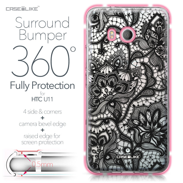 HTC U11 case Lace 2037 Bumper Case Protection | CASEiLIKE.com