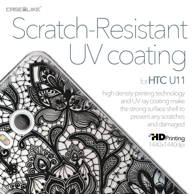 HTC U11 case Lace 2037 with UV-Coating Scratch-Resistant Case | CASEiLIKE.com