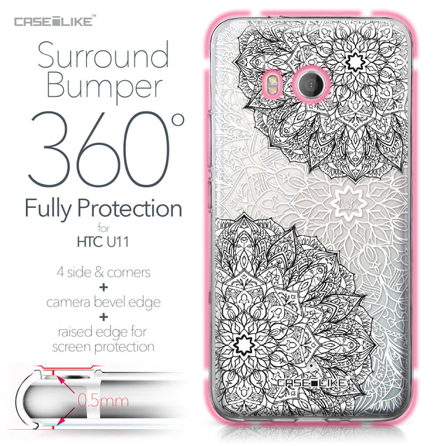 HTC U11 case Mandala Art 2093 Bumper Case Protection | CASEiLIKE.com
