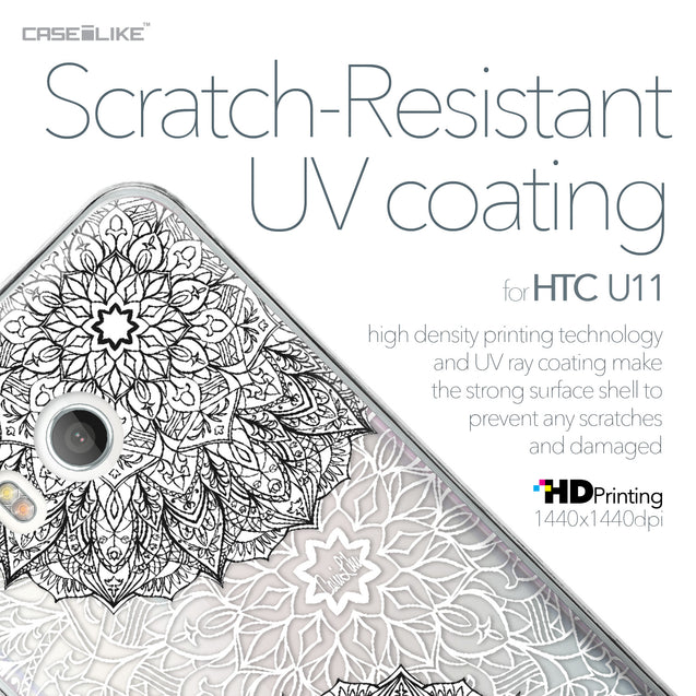 HTC U11 case Mandala Art 2093 with UV-Coating Scratch-Resistant Case | CASEiLIKE.com