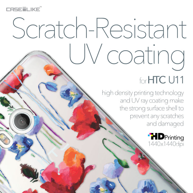 HTC U11 case Watercolor Floral 2234 with UV-Coating Scratch-Resistant Case | CASEiLIKE.com