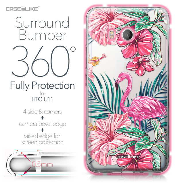 HTC U11 case Tropical Flamingo 2239 Bumper Case Protection | CASEiLIKE.com