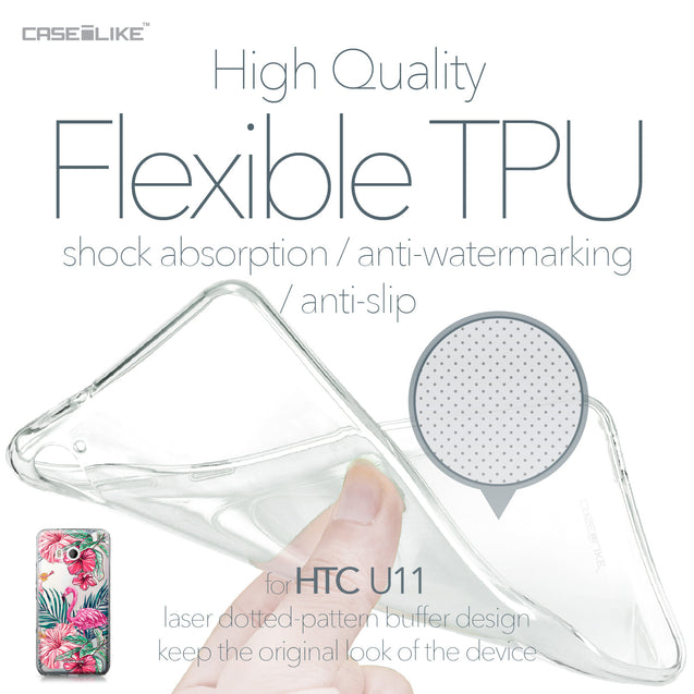 HTC U11 case Tropical Flamingo 2239 Soft Gel Silicone Case | CASEiLIKE.com