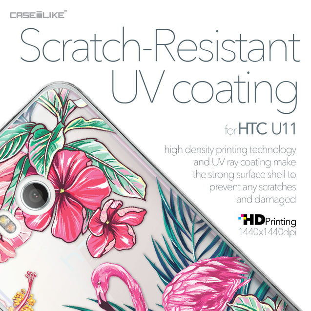 HTC U11 case Tropical Flamingo 2239 with UV-Coating Scratch-Resistant Case | CASEiLIKE.com