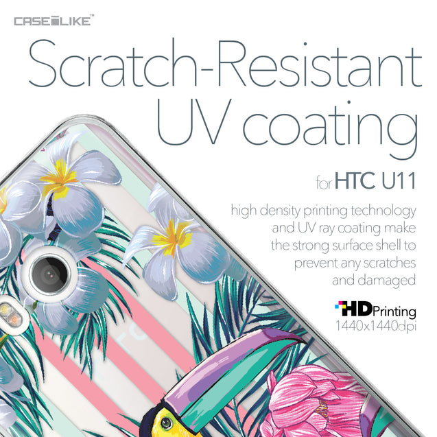 HTC U11 case Tropical Floral 2240 with UV-Coating Scratch-Resistant Case | CASEiLIKE.com