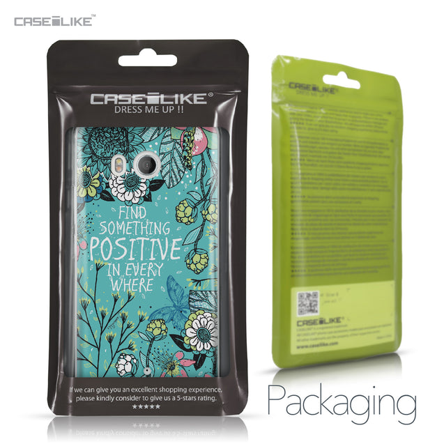 HTC U11 case Blooming Flowers Turquoise 2249 Retail Packaging | CASEiLIKE.com