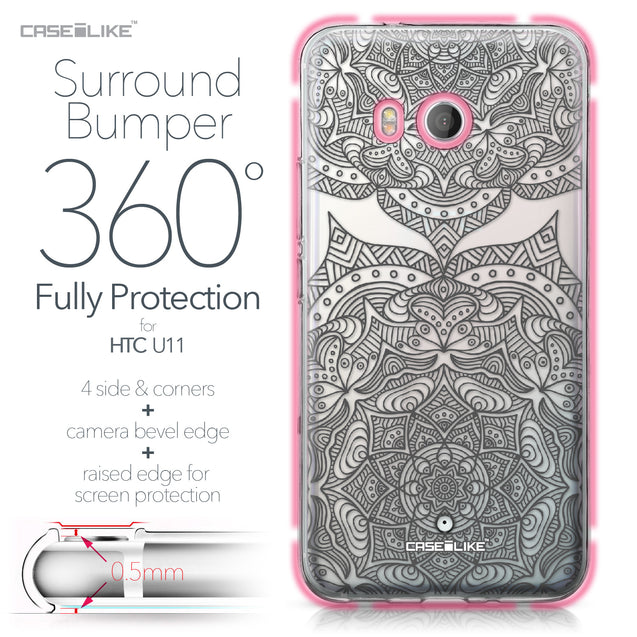 HTC U11 case Mandala Art 2304 Bumper Case Protection | CASEiLIKE.com