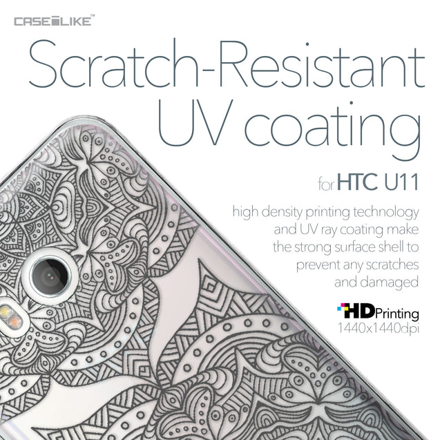HTC U11 case Mandala Art 2304 with UV-Coating Scratch-Resistant Case | CASEiLIKE.com