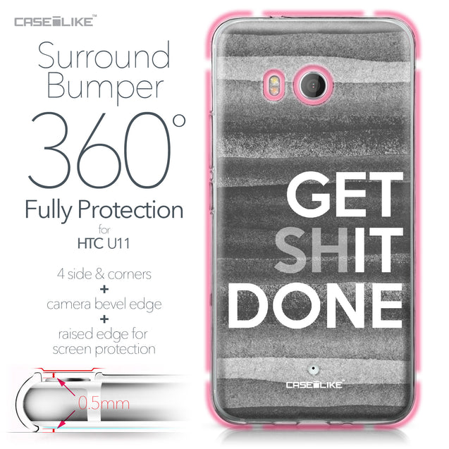 HTC U11 case Quote 2429 Bumper Case Protection | CASEiLIKE.com
