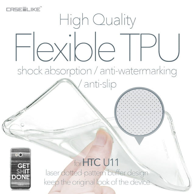 HTC U11 case Quote 2429 Soft Gel Silicone Case | CASEiLIKE.com