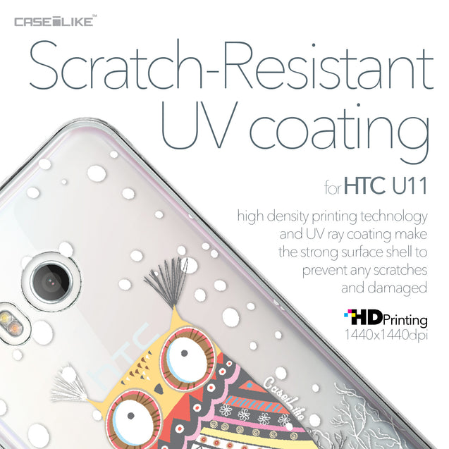 HTC U11 case Owl Graphic Design 3317 with UV-Coating Scratch-Resistant Case | CASEiLIKE.com