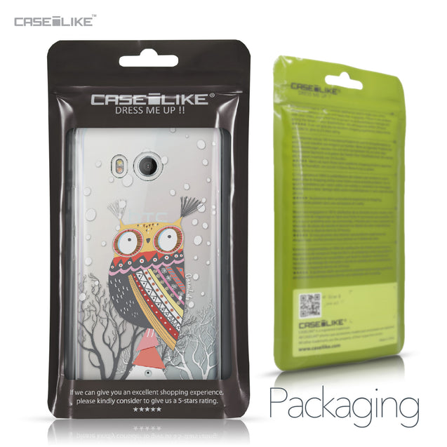 HTC U11 case Owl Graphic Design 3317 Retail Packaging | CASEiLIKE.com