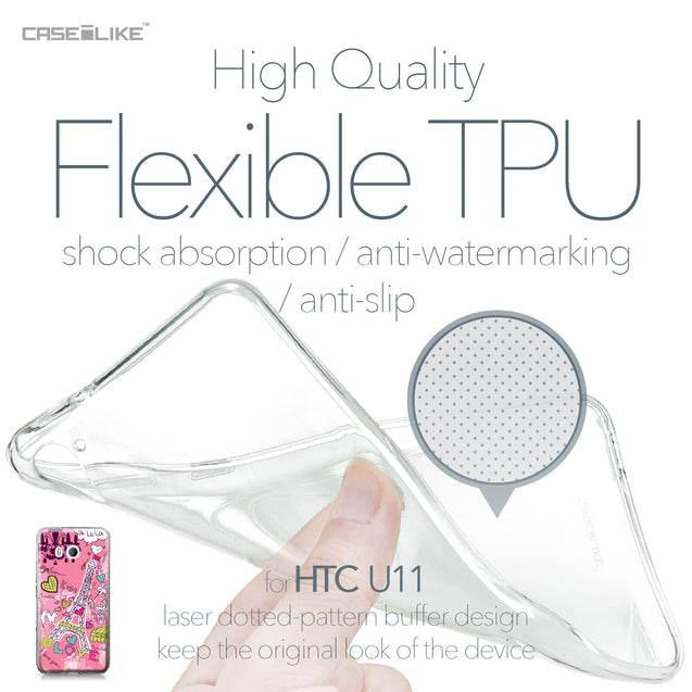 HTC U11 case Paris Holiday 3905 Soft Gel Silicone Case | CASEiLIKE.com