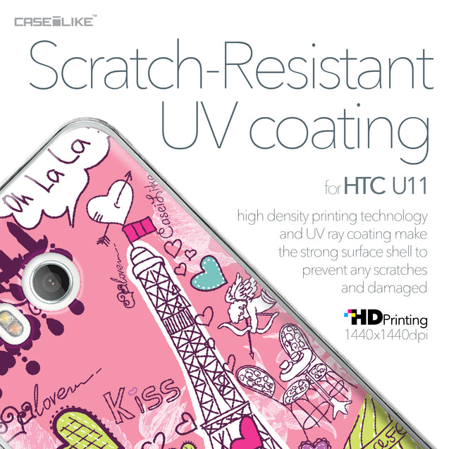 HTC U11 case Paris Holiday 3905 with UV-Coating Scratch-Resistant Case | CASEiLIKE.com