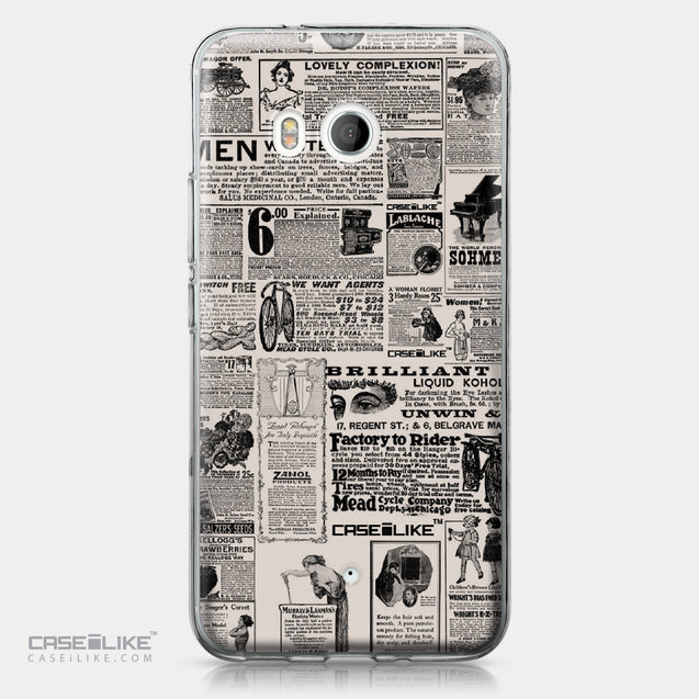 HTC U11 case Vintage Newspaper Advertising 4818 | CASEiLIKE.com