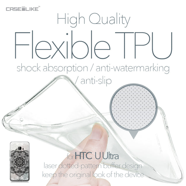 HTC U Ultra case Mandala Art 2097 Soft Gel Silicone Case | CASEiLIKE.com