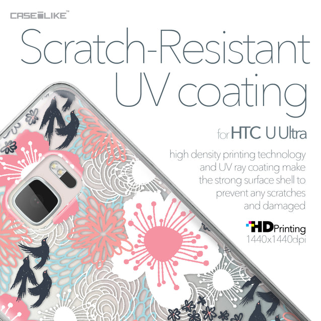 HTC U Ultra case Japanese Floral 2255 with UV-Coating Scratch-Resistant Case | CASEiLIKE.com