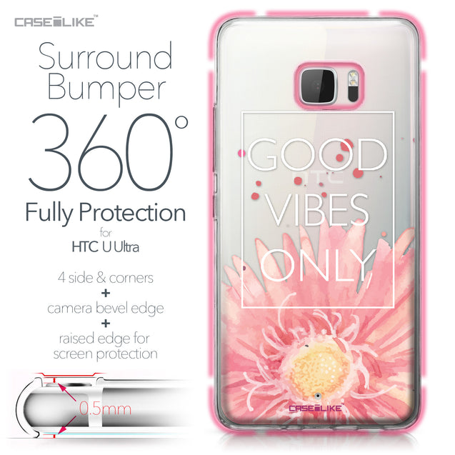 HTC U Ultra case Gerbera 2258 Bumper Case Protection | CASEiLIKE.com