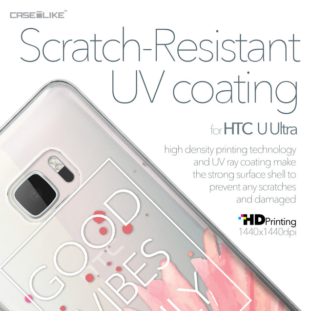 HTC U Ultra case Gerbera 2258 with UV-Coating Scratch-Resistant Case | CASEiLIKE.com