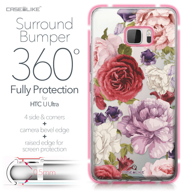 HTC U Ultra case Mixed Roses 2259 Bumper Case Protection | CASEiLIKE.com