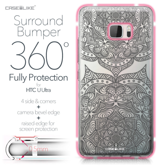 HTC U Ultra case Mandala Art 2304 Bumper Case Protection | CASEiLIKE.com