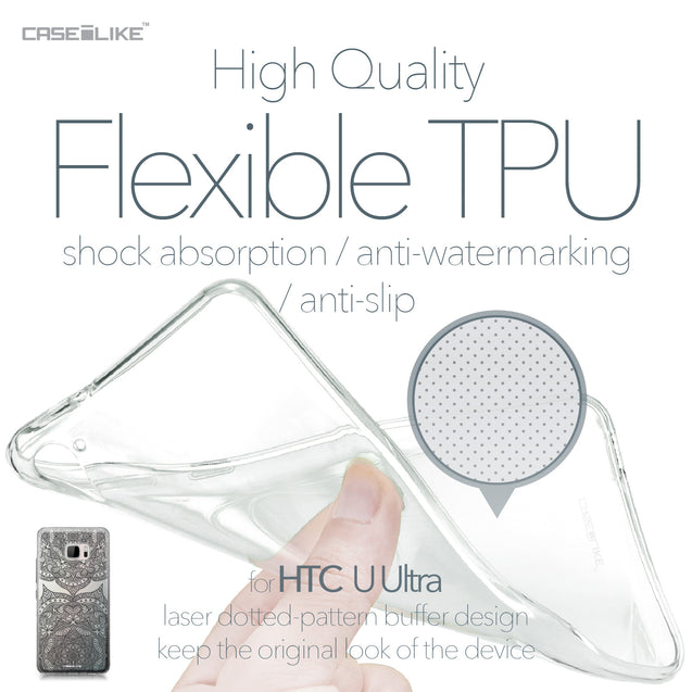 HTC U Ultra case Mandala Art 2304 Soft Gel Silicone Case | CASEiLIKE.com