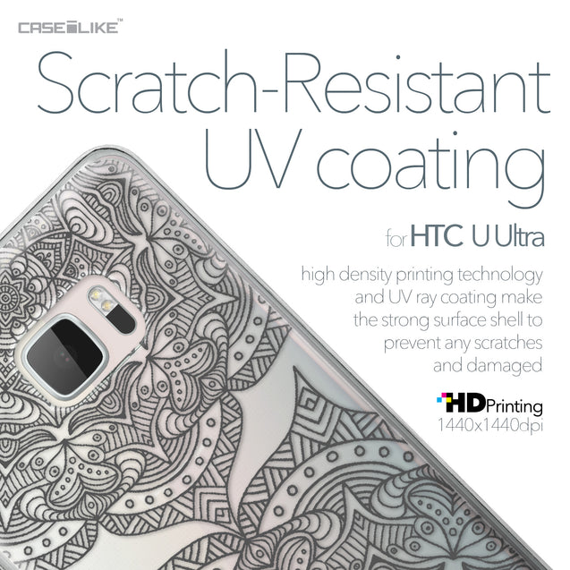 HTC U Ultra case Mandala Art 2304 with UV-Coating Scratch-Resistant Case | CASEiLIKE.com