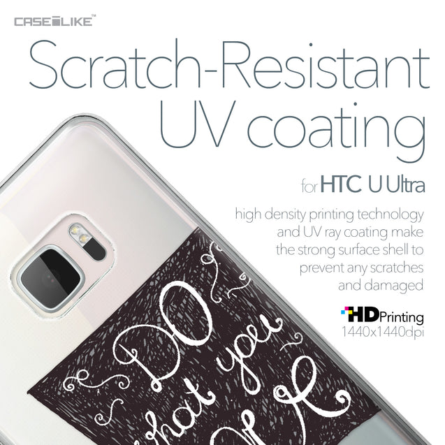 HTC U Ultra case Quote 2400 with UV-Coating Scratch-Resistant Case | CASEiLIKE.com