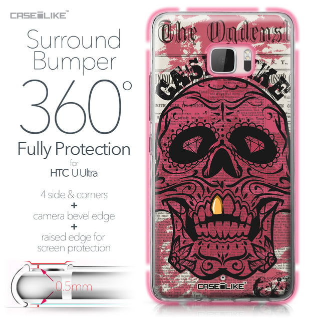 HTC U Ultra case Art of Skull 2523 Bumper Case Protection | CASEiLIKE.com