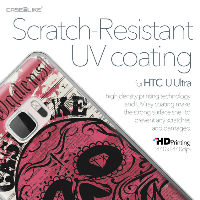 HTC U Ultra case Art of Skull 2523 with UV-Coating Scratch-Resistant Case | CASEiLIKE.com