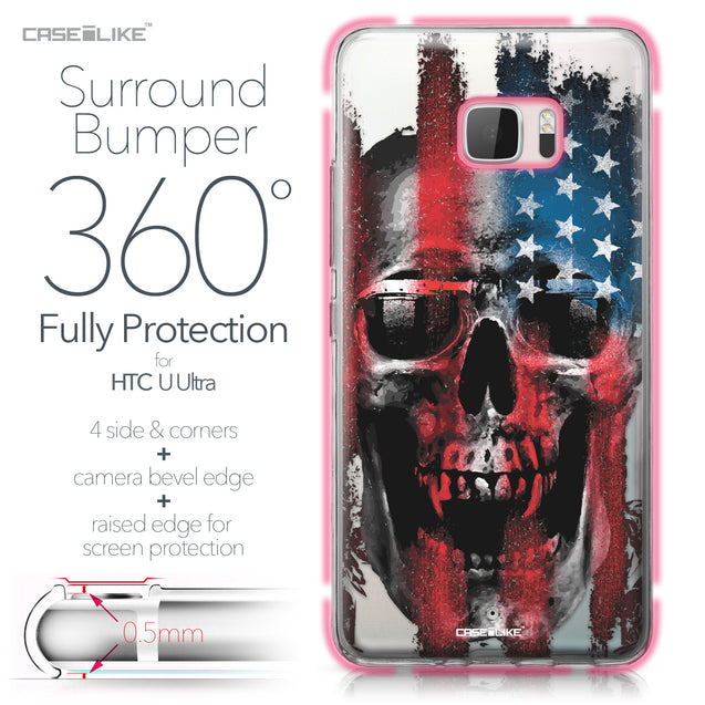 HTC U Ultra case Art of Skull 2532 Bumper Case Protection | CASEiLIKE.com
