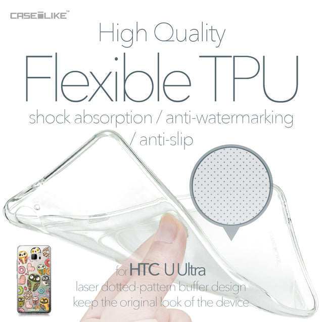 HTC U Ultra case Owl Graphic Design 3315 Soft Gel Silicone Case | CASEiLIKE.com