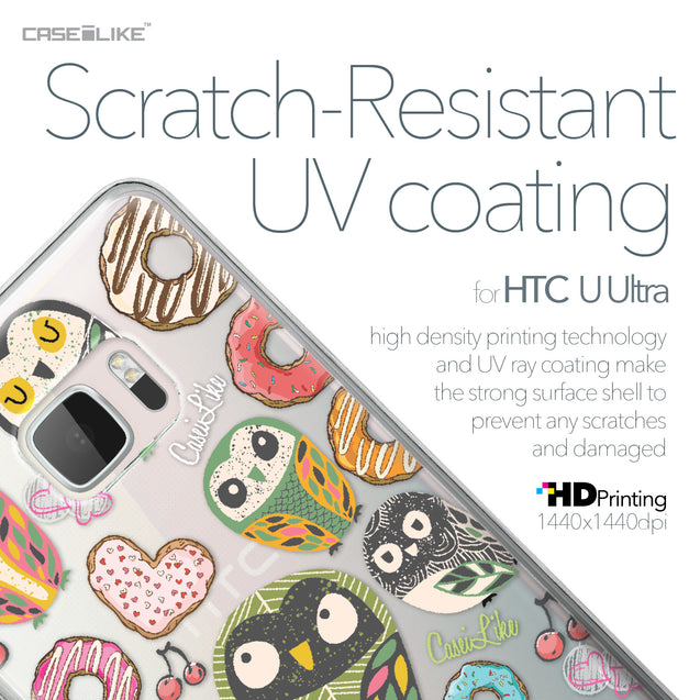 HTC U Ultra case Owl Graphic Design 3315 with UV-Coating Scratch-Resistant Case | CASEiLIKE.com