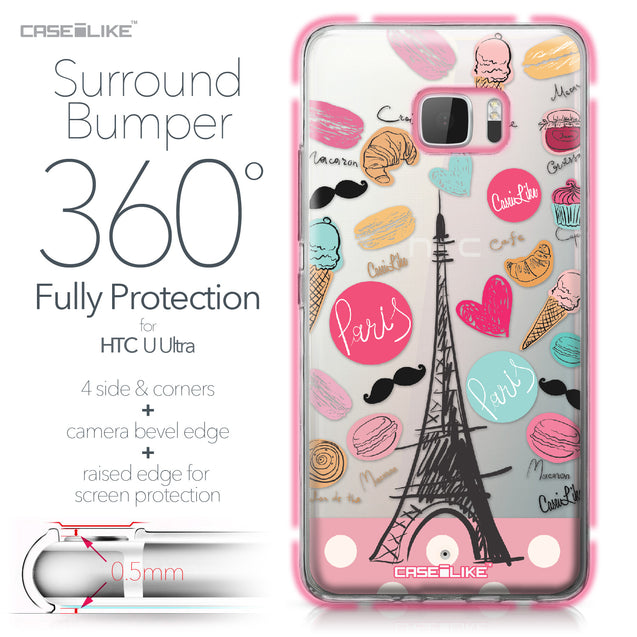 HTC U Ultra case Paris Holiday 3904 Bumper Case Protection | CASEiLIKE.com
