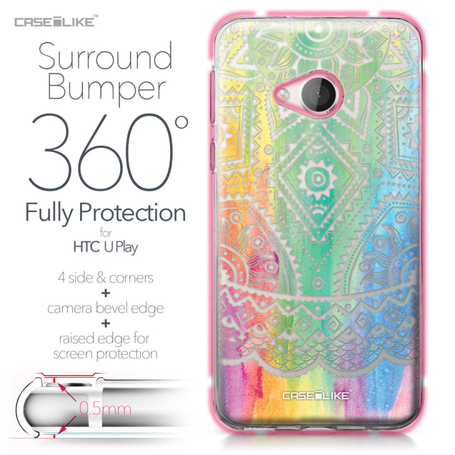 HTC U Play case Indian Line Art 2064 Bumper Case Protection | CASEiLIKE.com