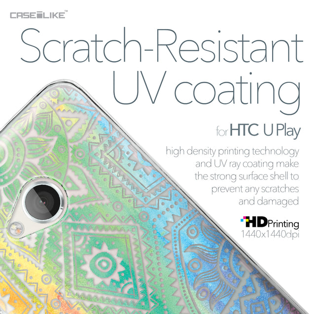 HTC U Play case Indian Line Art 2064 with UV-Coating Scratch-Resistant Case | CASEiLIKE.com
