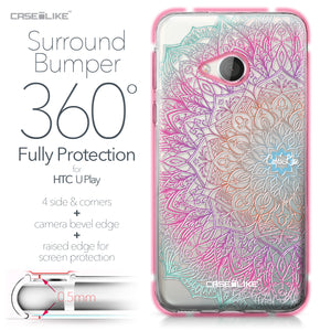 HTC U Play case Mandala Art 2090 Bumper Case Protection | CASEiLIKE.com