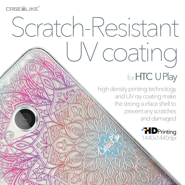 HTC U Play case Mandala Art 2090 with UV-Coating Scratch-Resistant Case | CASEiLIKE.com